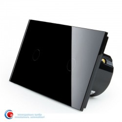 Intrerupatoare Touch cu doua pozitii - negru