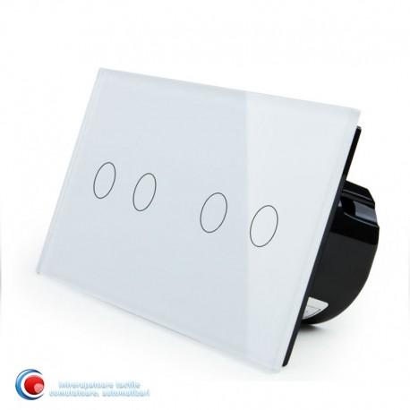 Intrerupator touch cu patru pozitii - alb