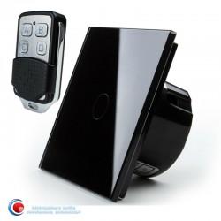 Intrerupator touch standard cu telecomanda - negru
