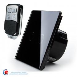Intrerupator touch dublu standard cu telecomanda - negru