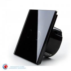 Intrerupator touch dublu standard - negru